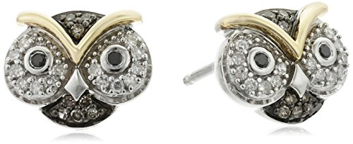 xpy-sterling-silver-and-14k-yellow-gold-owl-diamond-stud-earrings-1-5cttw-i2-i3-clarity