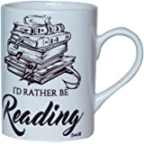 Books Etc I'd Rather Be Reading Ceramic Mug, 236 Ml, 1-Piece, White (MU000025)