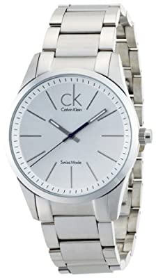 Calvin Klein Men's 'Bold' Swiss Quartz Stainless Steel Automatic Watch, Color:Silver-Toned (Model: K2241120)