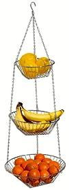 DecoBros 3-Tier Wire Hanging Basket,…