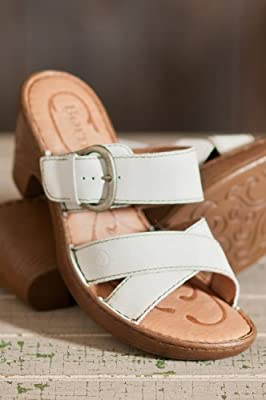 Born Women's Salima Leather Slide Sandal