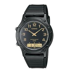 Casio Men's AW49H-1BV Ana-Digi Dual Time Watch: Casio: Watches
