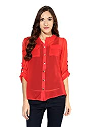 Raindrop's Women's Shirt(981D-Dark Peach-S)