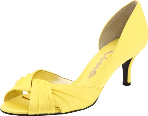 Nina Women's Culver Pump,Canary Luster Satin,8.5 M US