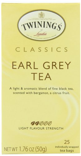Twinings Earl Grey Black Tea, 25-Count (Pack of 6)