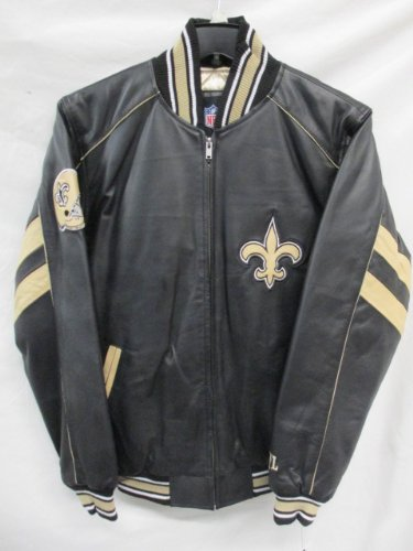 G-III New Orleans Saints Mens Medium Full Zip All Leather Jacket at Amazon.com
