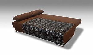 """Sofa Couch ''Freiburg"""" mit Bettfunktion Schlaffunktion, Luxus und Groß Sofa, Farbe / Stoffe Frei Auswahl, Schenkelmaß 200 x 95 cm"""