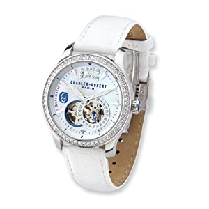 Stainless Steel White/swar Accent Automatic Watch by Charles Hubert Paris Watches, Best Quality Free Gift Box Satisfaction Guaranteed