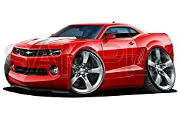 Camaro 2010 Red 48 inch Wall Skin Graphic