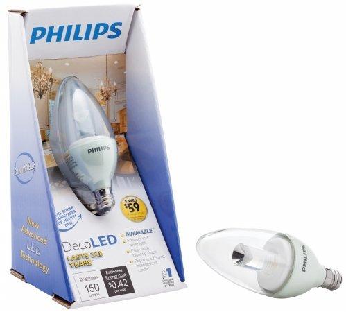 Philips Lighting 424473 4 Watt Led Blunt Tip Candle Light Bulb