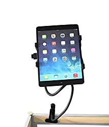 Mobilegear Universal Flexible Tablet Holder Cum Clip Stand with 360 Degree Rotation