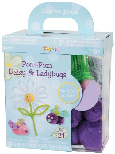 Darice Foamies PomPom Daisy and Ladybugs
