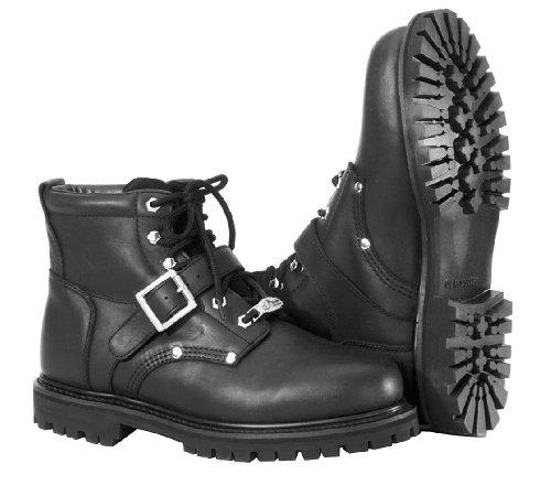 River Road Crossroads Buckle Boots - 11/Black