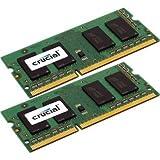 CRUCIAL TECHNOLOGY CT2KIT102464BF1339 Crucial 16GB Memory Kit (2x8GB) PC3-10600 1333MHz DDR3 Unbuffered Non-ECC CL9 204-pin SO-DIMM