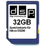 DSP Memory Z-4051557365834 32GB Speicherkarte für Nikon D3200
