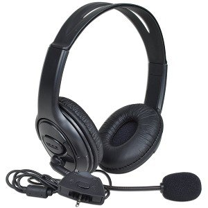 Hyperkin Mzx-1000 Stereo Gaming Headphones W/Boom Microphone & Inline Volume Control For Microsoft Xbox 360 (Black)