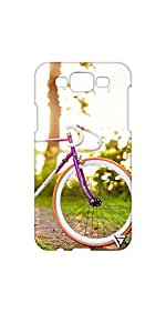 Vogueshell Bicycle Printed Symmetry PRO Series Hard Back Case for Samsung Galaxy A7