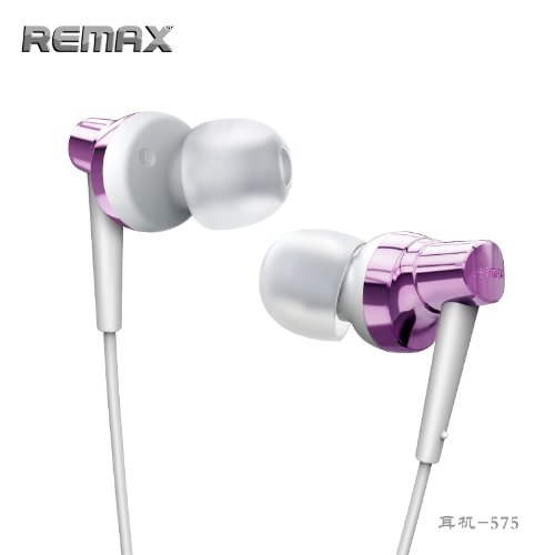 Remax Base-Driven Ultra-Bass Metal High Performance Stereo Headset With Microphone And In-Line Control (Pink Rm-575-2)