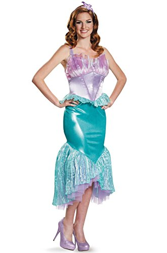 Mememall Fashion Littler Mermaid Ariel Deluxe Adult Costume (Mad Scientist Deluxe Adult Costume)