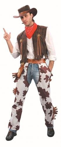 Men's Western Cowboy Fancy Dress Costume. One Size Costume But Usually Fits Mens Small, Medium, Large and XL. Perfect For Cowboys and Indians..