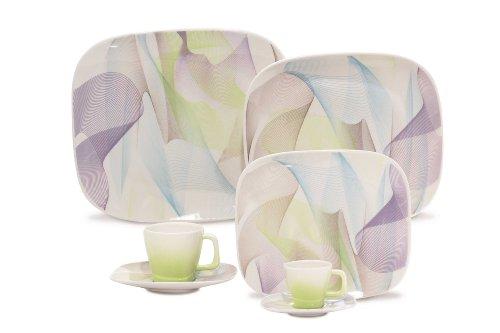 Karim Rashid 30 Pieces Porcelain Dinnerware / Espresso Set (Fusion)