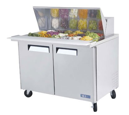 Turbo Air Mst-48-18 Refrigerated Prep Table, 18 Pan, Two Door, 15 Cu Ft front-616763