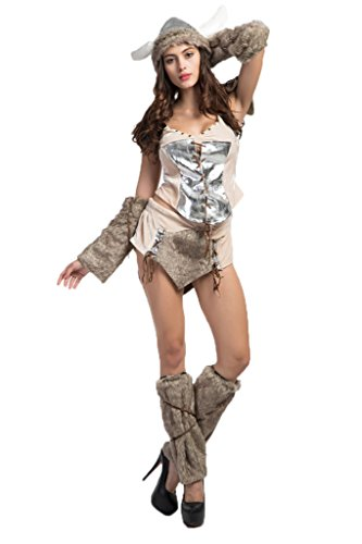 MZX Women's Roleplay Viking Pirate Halloween Cosplay Costume
