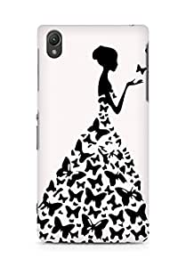 AMEZ designer printed 3d premium high quality back case cover for Sony Xperia Z2 (white princess)