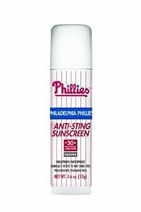MLB Philadelphia Phillies No Sting Sunscreen Facestick SPF 30+, 0.6-Ounce Stick