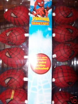 Spiderman string lights