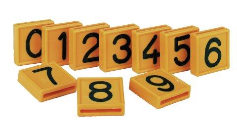 Nummernblock, gelb einstellig, Nr. 3