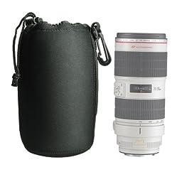 Foto&Tech DSLR camera Drawstring Soft Neoprene Lens Pouch Bag Cover for Canon Nikon Sony Panasonic Fujifilm Olympus Pentax Sigma DSLR/SLR/EVIL Camera (Extra Large)