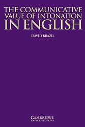 The Communicative Value of Intonation in English (Applied Linguistics Non)