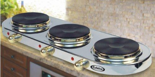 Cheap Cuisine Cookware Triple Buffet Burner – Stainless Steel w/ 24K Gold Plated Accents|TBG (B002N6SJ0W)