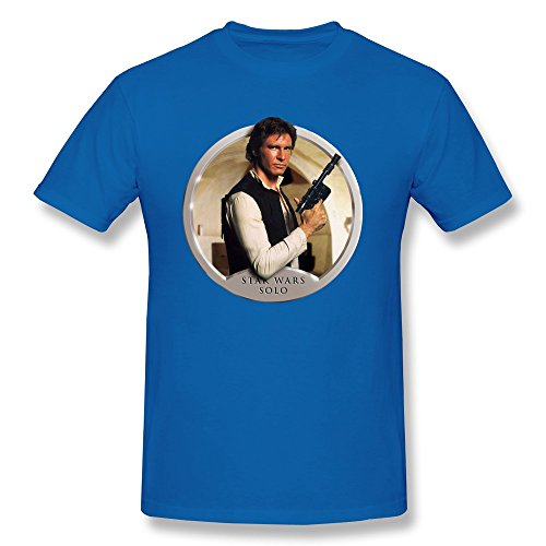 Jiaso Men's Funny The Star Wars Han Solo T-shirt RoyalBlue X-Small