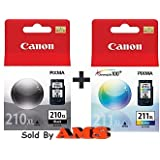 Canon PG-210XL /CL-211XL Color Ink Cartridge Combo Pack-Black ~ Canon