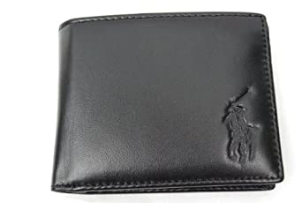 Ralph Lauren Big Pony Passcase Wallet (Black): Amazon.co.uk: Outlet