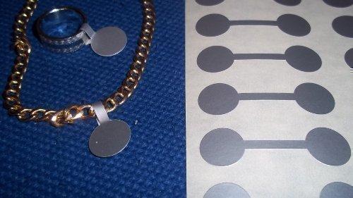 1000 Étiquettes /autocollants/ étiquettes forme timbré circulaire argenté