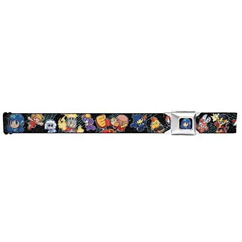 [Mega Man Seatbelt Belt - MEGAMAN 11 Chibi Characters Galaxy Webbing] (Megaman Hat)