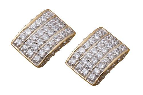 Imagen 1 de Alvina ZO-5887-GOLD - Pendientes de mujer de plata de ley con circonitas