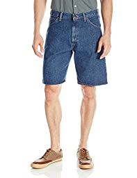 Wrangler Men\'s Authentics Classic Five Pocket Jean Short, Stonewash Dark, 34