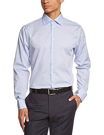 Schwarze Rose Herren Slim Fit Business Hemd KENT UMA SR, Gr. Kragenweite: 42 cm, Blau (hellblau 15)