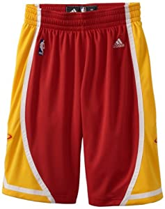 NBA Houston Rockets Swingman Uniform Short, XX-Large, red and yellow by adidas