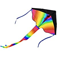 Arshiner Rainbow Delta Kite,One Of The Best Selling Toys For Outdoor Activities And Family Fun,Foldable Kite Easy...