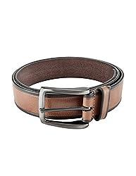 Parx Dark Brown Leather Men's Belt