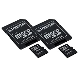 LG G4 Cell Phone Memory Card 2 x 16GB microSDHC Memory Card with SD Adapter (2 Pack)