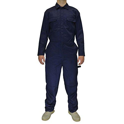 Herren-Blaumann-Mechaniker-Overall-Blaumann-arbeitskleidung-Marineblau-XL