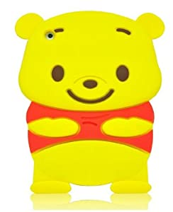 Angelina(TM) Adorable 3D Winnie The Pooh Design New Style Soft Silicone iPad Mini 1 Cover Case Protective Cover Compatible for iPad Mini 1 Generation Yellow Color (Not Fit for iPad Mini 2nd Generation with Retina Touch Screen)