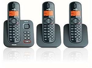 Philips CD1553B/05 Digital Cordless Phone With Answering Machine - Triple Handset