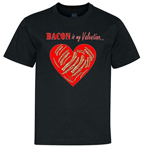 Bacon Is My Valentine Funny V-Day Youth T-Shirt